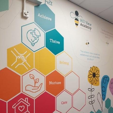 Logo design wall paper vision school