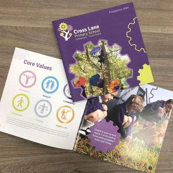 Cross Lane Primary School Prospectus design and digital print